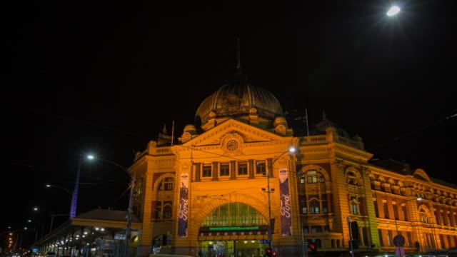 MELBOURNE, AUSTRALIA timelapse video of Flinders street station