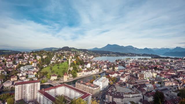 timelapse video of lucerne, switzerland - lake lucerne stock videos & royalty-free footage