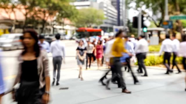 Time Lapse Video Quartiere finanziario centrale di Singapore waterfront