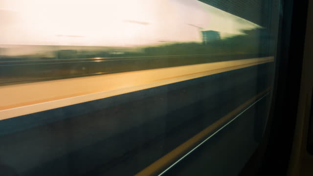 time-lapse view from the train window - railway track stock videos & royalty-free footage