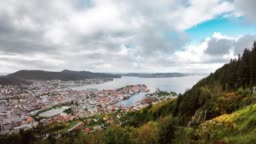 Timelapse - View of Alesund, Norway during the day