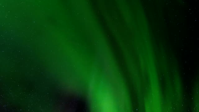 time-lapse view of aurora in iceland - aurora borealis stock videos & royalty-free footage