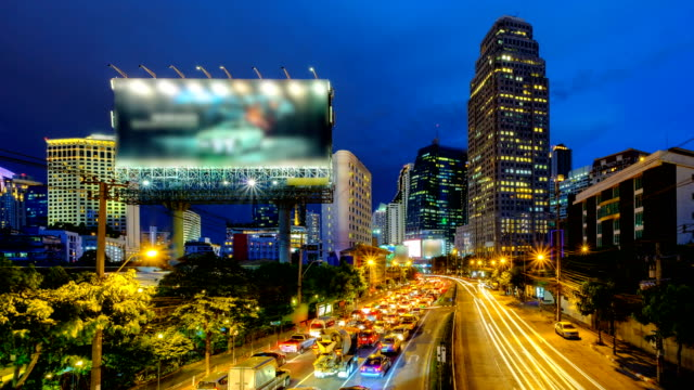 timelapse view of bangkok traffic - combat sport stock videos & royalty-free footage