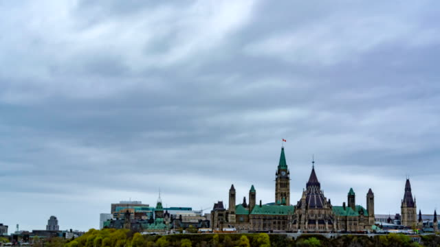 timelapse view of canada's parliament, ottawa, canada - ottawa stock videos & royalty-free footage