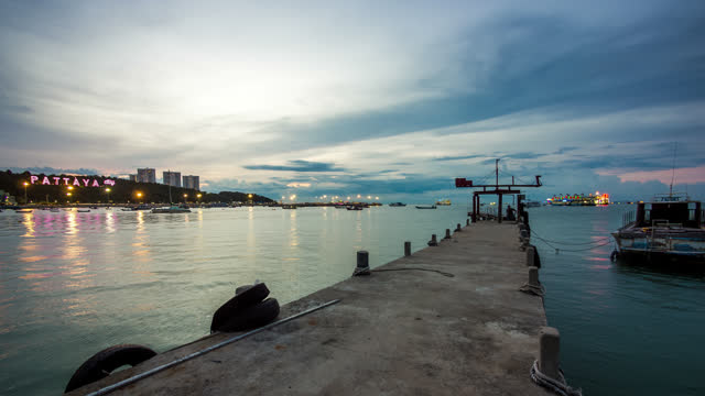 timelapse view of pattaya sunset - 2013 stock videos & royalty-free footage