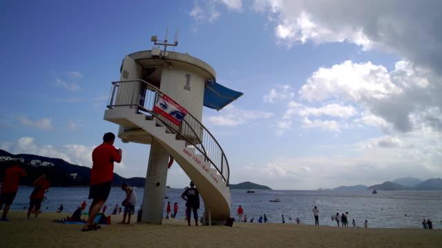 タイムラプスビューのビーチの人々 - レブロン点の映像素材/bロール