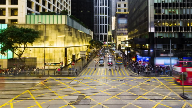 4K Timelapse view of people on the streets Hong Kong city at Causeway bay Hong Kong is a major financial hub in the Asia region.zoomin styles.