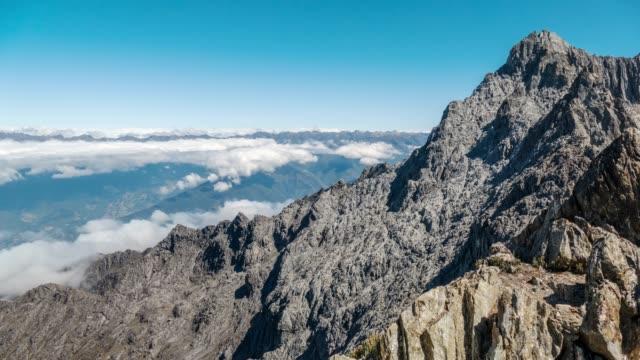 vídeos y material grabado en eventos de stock de vista en time-lapse de pic pico bolívar o bolívar de 4978 mts y sierra de la culata en el fondo. parque nacional de sierra nevada. estado mérida, venezuela. - venezuela