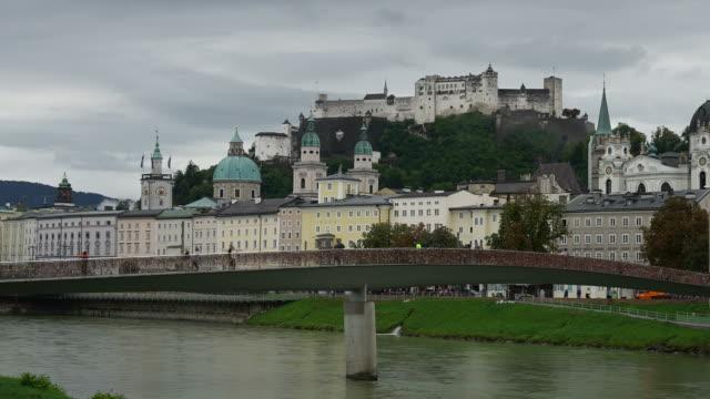 Timelapse view of Salzburg City in Austria