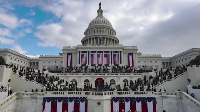 DC: TIME LAPSE: Joe Biden Sworn In As 46th President Of The United States At U.S. Capitol Inauguration Ceremony