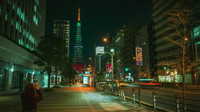4k time-lapse: view of tokyo tower in japan - 4k resolution stock videos & royalty-free footage
