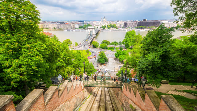 timelapse view over budapest hungary - budapest stock videos & royalty-free footage