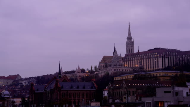 time-lapse: view to fishermans bastion in budapest - hungary stock videos & royalty-free footage