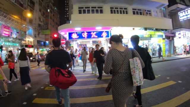 timelapse walking in Hong Kong City