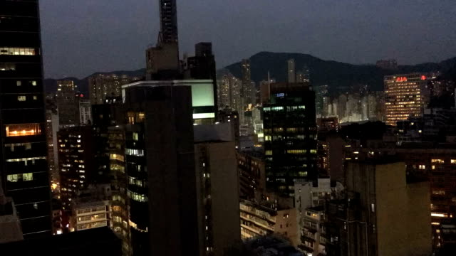 timelapse - wan chai hong kong afternoon to night - wanchai stock videos and b-roll footage