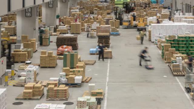 time-lapse: warehouse working at market tokyo japan - warehouse stock videos & royalty-free footage