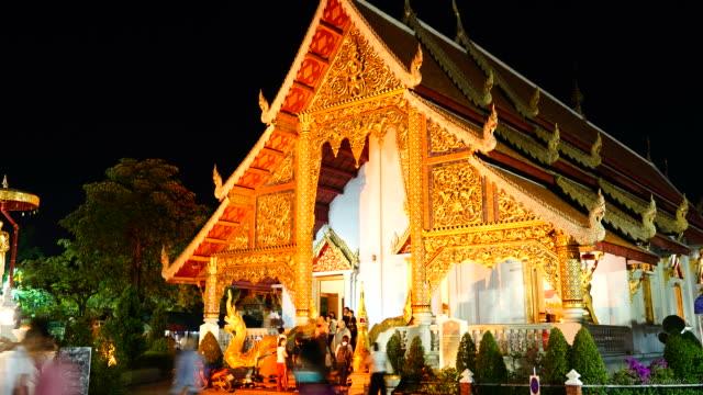 timelapse Wat Phra Singh in Chiang Mai, Thailand
