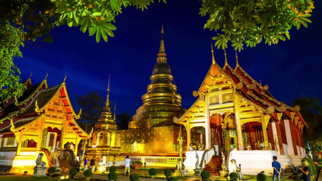 Timelapse Wat Phra Singh in Chiang Mai, Thailand