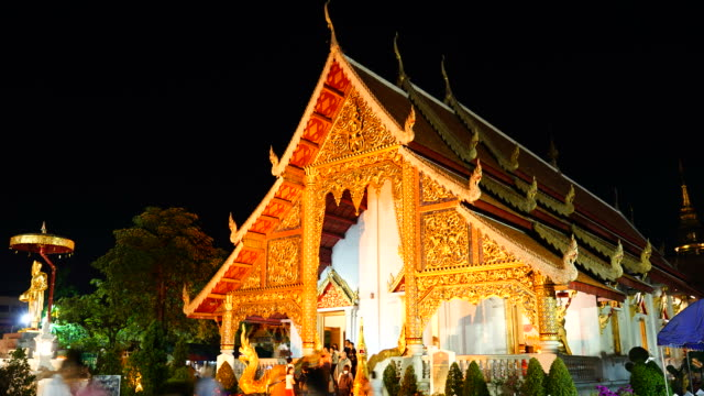 HD timelapse Wat Phra Singh in Chiang Mai,Thailand