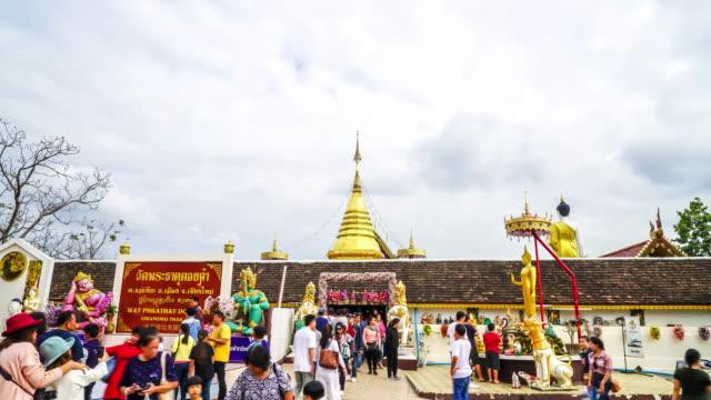 timelapse Wat Phra That Doi Kham at Chiang Mai, Thailand