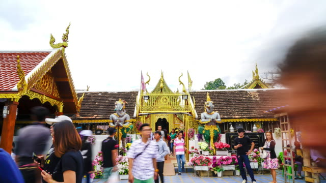timelapse Wat Phra That Doi Kham at Chiang Mai,Thailand