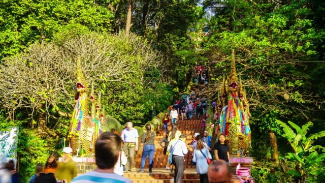 timelapse Wat Phra That Doi Suthep at Chiang Mai, Thailand