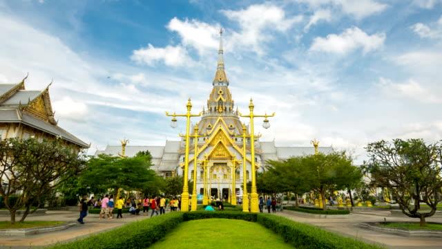 HD time-lapse: Wat Sothonwararam Chachoengsao Thailand