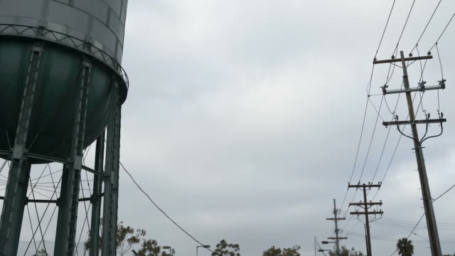 time-lapse, water tower in north park, san diego, with clouds. - north stock videos and b-roll footage