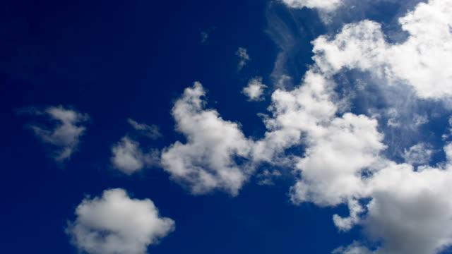 タイムラプス雲が、ホワイト、ブルースカイ