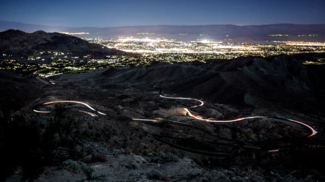 time-lapse winding road palm springs - palm springs california stock videos & royalty-free footage