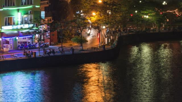 vídeos de stock, filmes e b-roll de definição de intervalo de tempo: wonderful curva do rio, vietnã - lago reflection