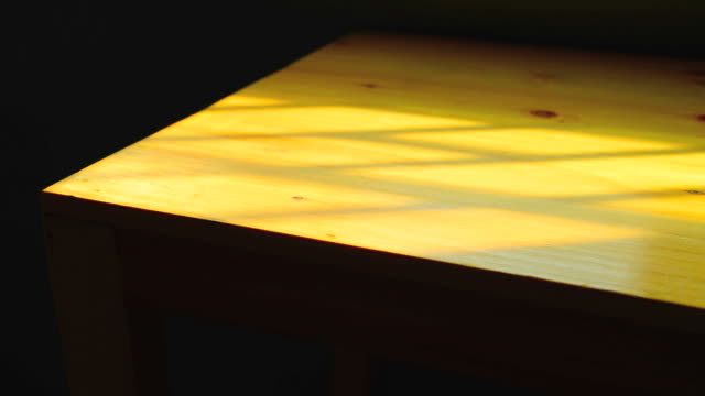 time-lapse: wooden table deck with sunlight from window - plank variation stock videos & royalty-free footage