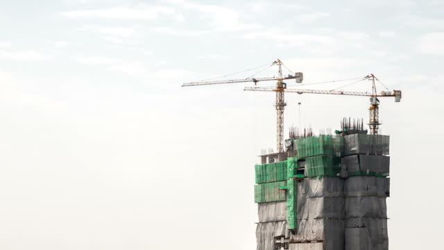 hd :time -lapse (低速度撮影)  で働く建設現場 - ホワイトカラー点の映像素材/bロール
