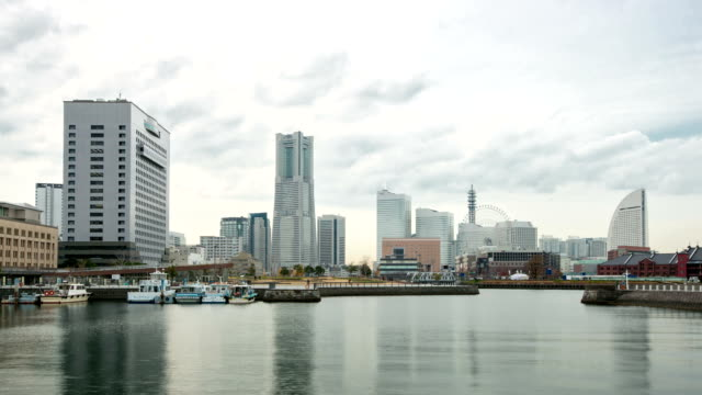 hd time-lapse: yokohama city downtown japan - kanagawa prefecture stock videos and b-roll footage