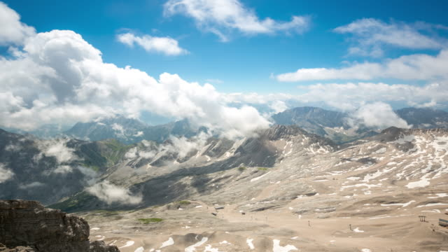 4K Time-lapse: Zugspitze Alpine Alps mountain Landscape top of Germany