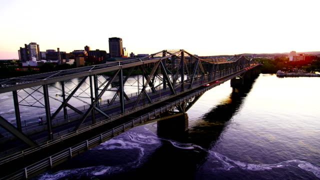 time-lapse:alexandra bridge at sunset,ottawa - ottawa stock videos and b-roll footage