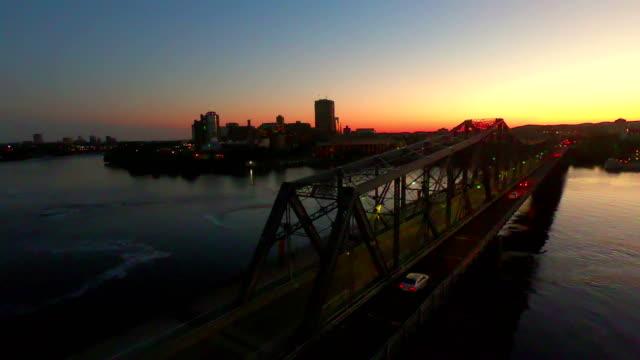 time-lapse:alexandra bridge at sunset,ottawa - gatineau stock videos & royalty-free footage
