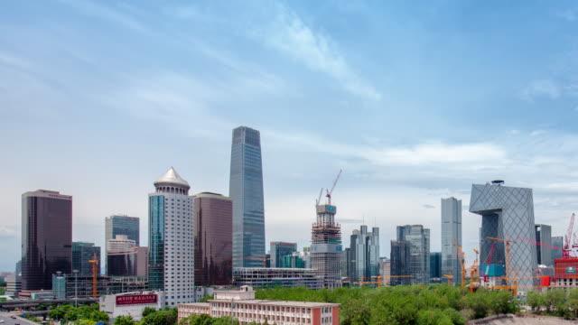 timelapse-beijing skyline - mao stock videos and b-roll footage