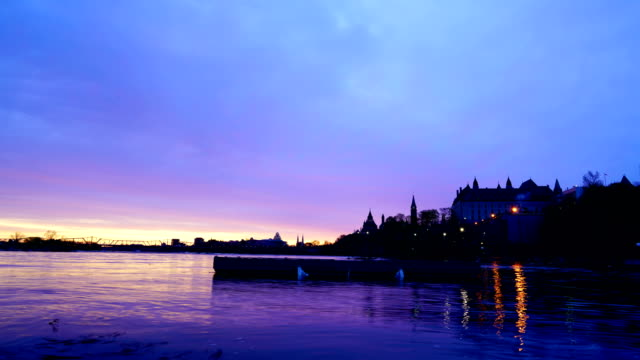 time-lapse:canadian parliament hill viewed from across ottawa river during - mid section stock videos & royalty-free footage