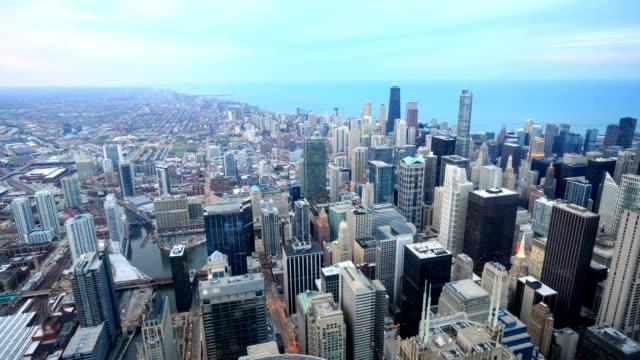 HD Time-lapse :  Vue sur les toits de Chicago
