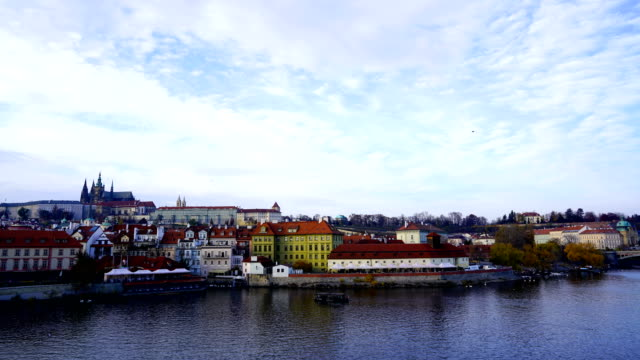 time-lapse:cityscape of prague in autumnal morning (prague, czech republic) - stare mesto stock videos & royalty-free footage