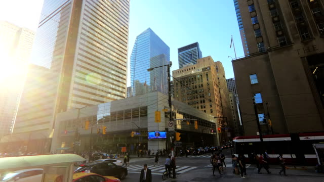 time-lapse:crossing people - toronto stock videos & royalty-free footage