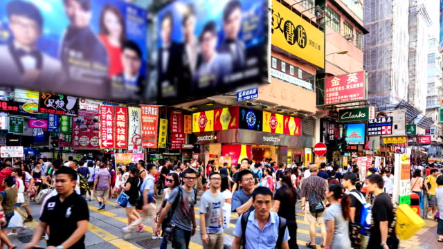 hd time-lapse:crowd people are walking a market - chinese culture stock videos & royalty-free footage