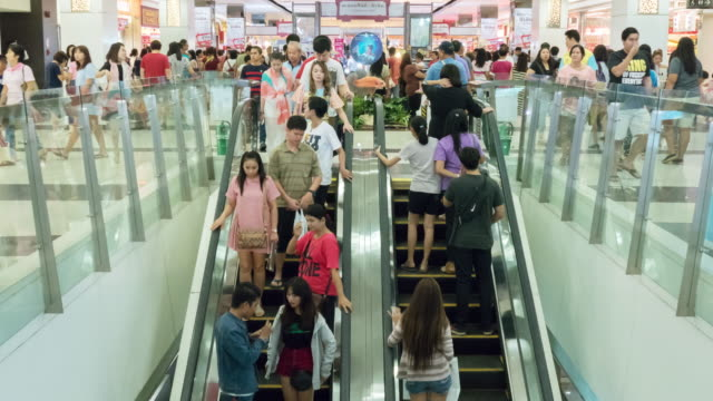 Timelapse:Escalator in a mall