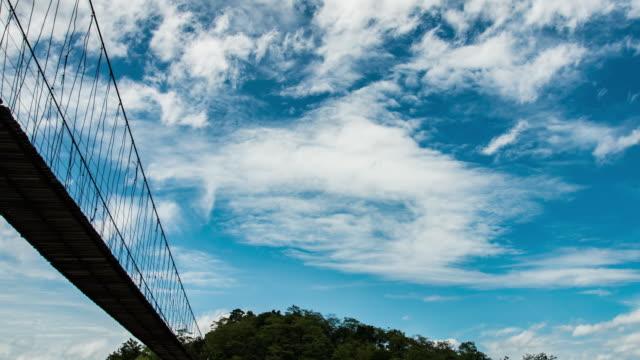 timelapse:hanging bridge - musical instrument bridge stock videos & royalty-free footage