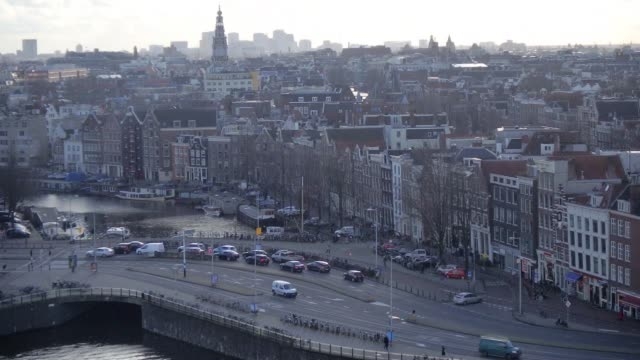Timelapse/hyperlapse of sights in Amsterdam The Netherlands