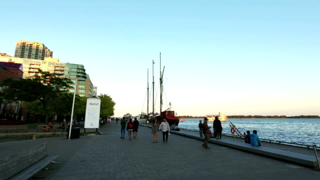 time-lapse:lakeside in downtown toronto - toronto stock videos and b-roll footage