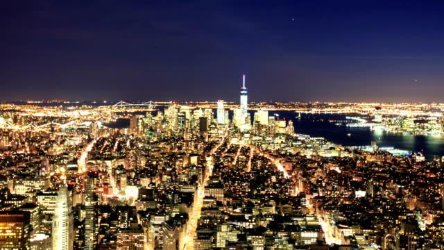 HD Time-lapse:Manhattan to night, New York