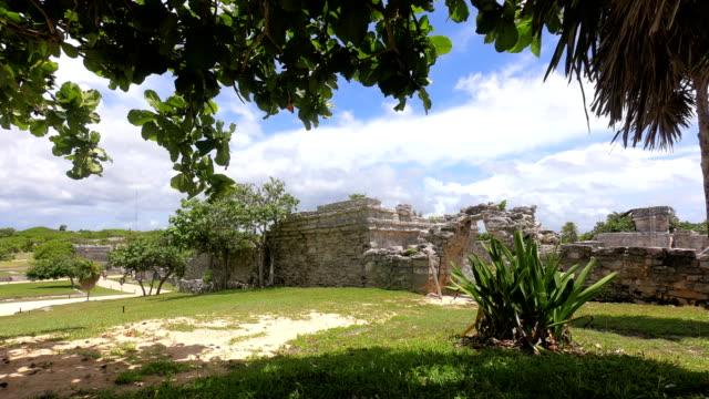 vídeos de stock, filmes e b-roll de tempo-lapso: muyil antigos sítios de maya, península de yucatan no méxico - yucatán
