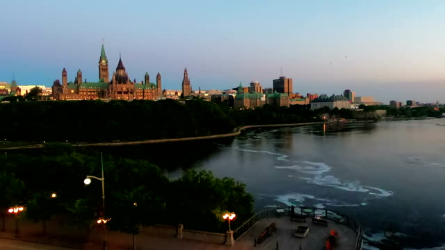 time-lapse:ottawa city and river - ottawa stock videos & royalty-free footage